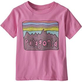 Patagonia Fitz Roy Skies Organic T-Shirt Kids marble pink